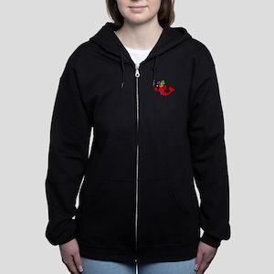 MARDI GRAS CRAWFISH Women's Zip Hoodie