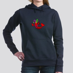 MARDI GRAS CRAWFISH Women's Hooded Sweatshirt