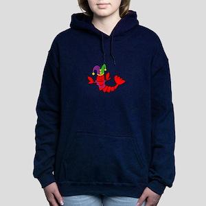 MARDI GRAS CRAWFISH Women's Hooded Sweatshirt
