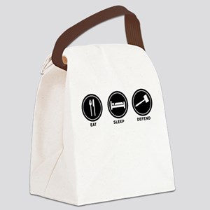 Eat Sleep Defend Canvas Lunch Bag
