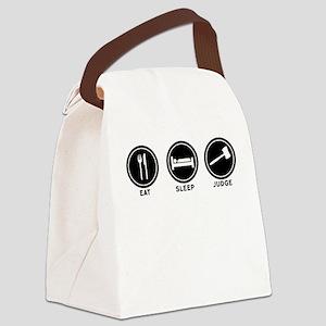 Eat Sleep Judge Canvas Lunch Bag
