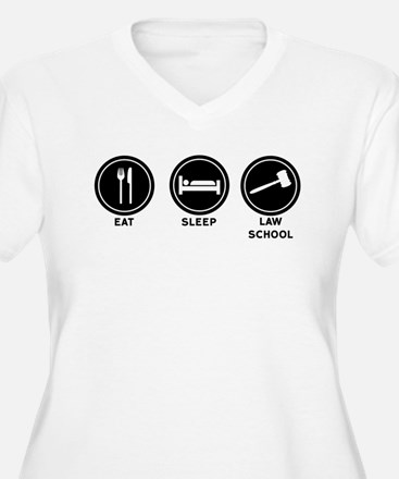 Eat Sleep Law School Plus Size T-Shirt