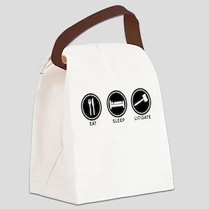 Eat Sleep Litigate Canvas Lunch Bag