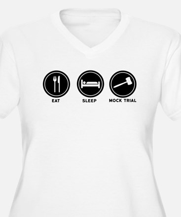 Eat Sleep Mock Trial Plus Size T-Shirt