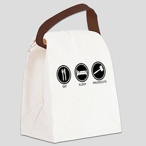 Eat Sleep Prosecute Canvas Lunch Bag