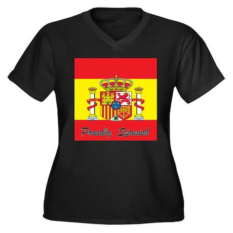 Proudly Spanish Women's Plus Size V-Neck Dark T-Sh