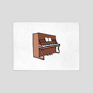 UPRIGHT PIANO 5'x7'Area Rug