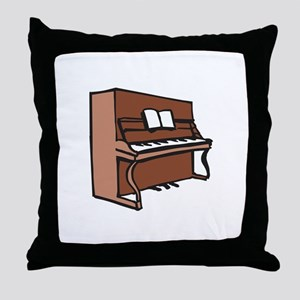 UPRIGHT PIANO Throw Pillow