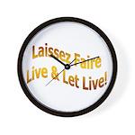 Laissez Faire-Gold Wall Clock
