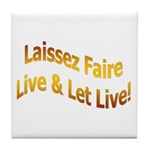 Laissez Faire-Gold Tile Coaster