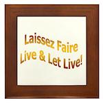Laissez Faire-Gold Framed Tile