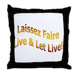 Laissez Faire-Gold Throw Pillow