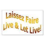 Laissez Faire-Gold Rectangle Sticker