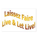 Laissez Faire-Gold Postcards (Package of 8)