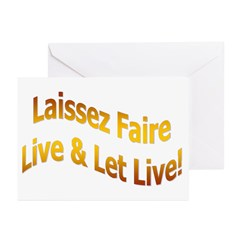 Laissez Faire-Gold Greeting Cards (Pk of 10)