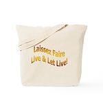 Laissez Faire-Gold Tote Bag