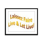 Laissez Faire-Gold Framed Panel Print
