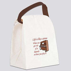 LIFE LIKE A PIANO Canvas Lunch Bag