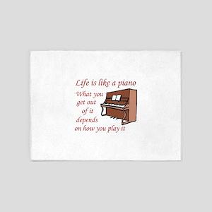 LIFE LIKE A PIANO 5'x7'Area Rug