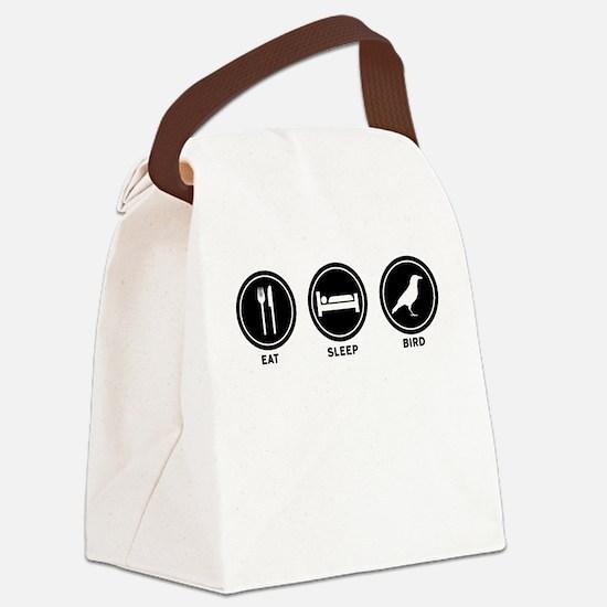 Eat Sleep Bird Canvas Lunch Bag