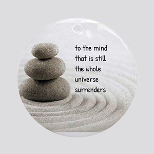 The Mind That Is Still Ornament (Round)