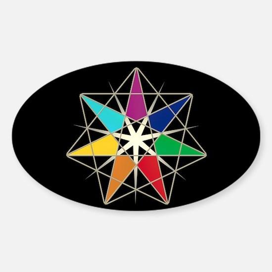 Chakra Fairy Star Sticker (Oval)