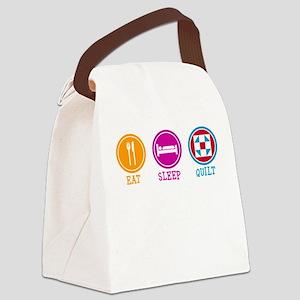 Eat Sleep Quilt Canvas Lunch Bag