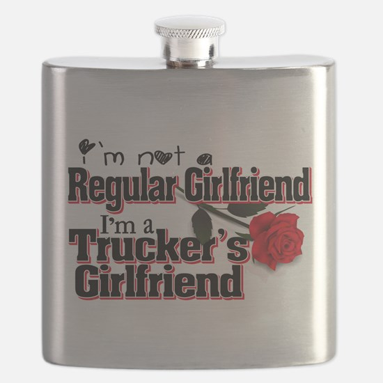 Not a Regular Girlfriend - Trucker's Girlfr Flask