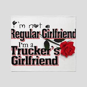 Not a Regular Girlfriend - Trucker' Throw Blanket