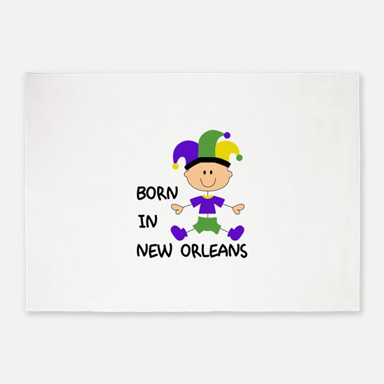 BORN IN NEW ORLEANS 5'x7'Area Rug