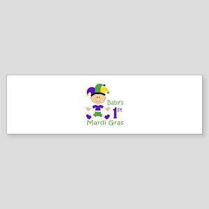 BABYS FIRST MARDI GRAS Bumper Sticker