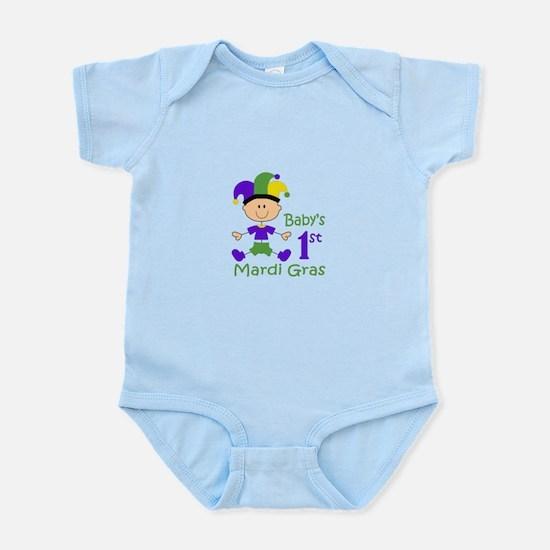 BABYS FIRST MARDI GRAS Body Suit