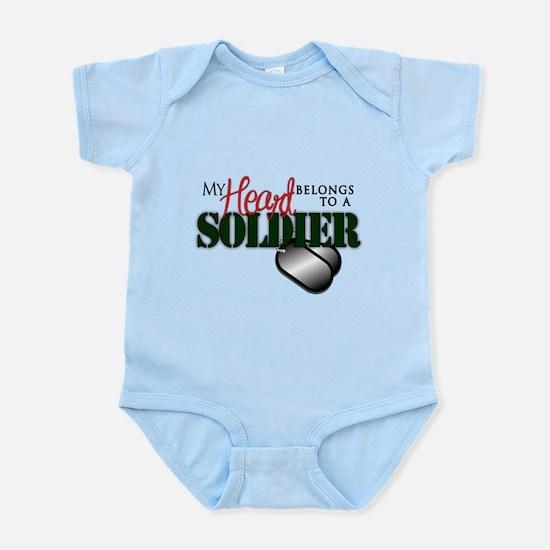 Heart Belong to Soldier Body Suit
