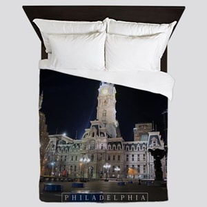 Philadelphia - City Hall. Queen Duvet