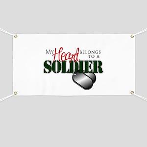 Heart Belong to Soldier Banner