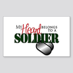 Heart Belong to Soldier Sticker