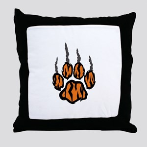 TIGER CLAW MARKS Throw Pillow