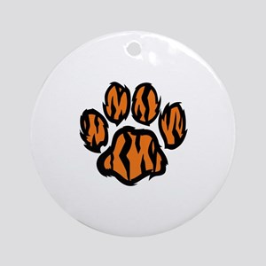 TIGER PAW PRINT Ornament (Round)