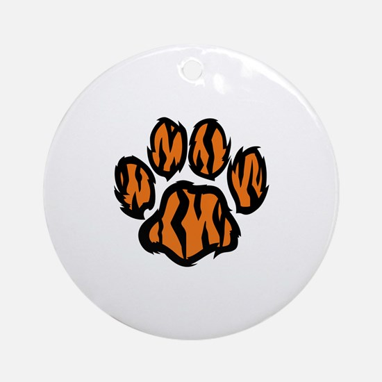 TIGER PAW PRINT Ornament (Round)
