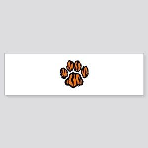 TIGER PAW PRINT Bumper Sticker