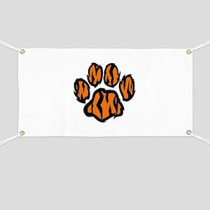 TIGER PAW PRINT Banner