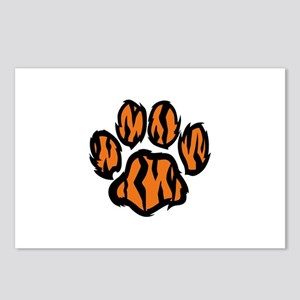 TIGER PAW PRINT Postcards (Package of 8)