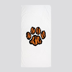 TIGER PAW PRINT Beach Towel