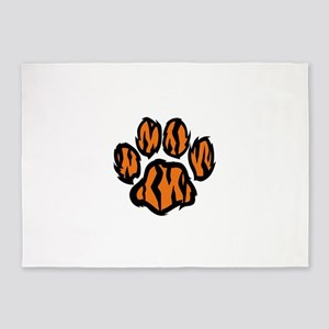 TIGER PAW PRINT 5'x7'Area Rug