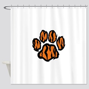 TIGER PAW PRINT Shower Curtain