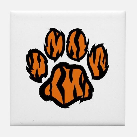 TIGER PAW PRINT Tile Coaster