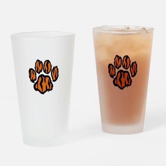 TIGER PAW PRINT Drinking Glass