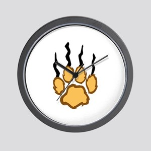 LIONS CLAW MARKS Wall Clock