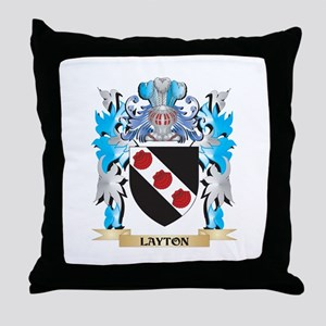 Layton Coat of Arms - Family Crest Throw Pillow