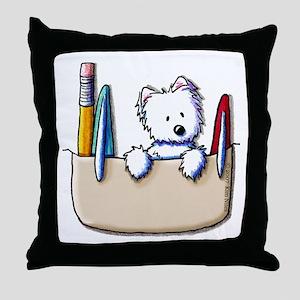 Pkt Protector Westie Throw Pillow